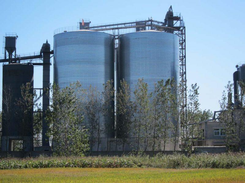fly ash storage silo
