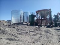sand silo tank storage system