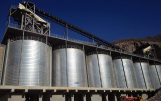 limestone storage silos