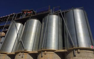 pulverized coal steel silo