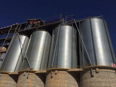 pulverized coal steel silo