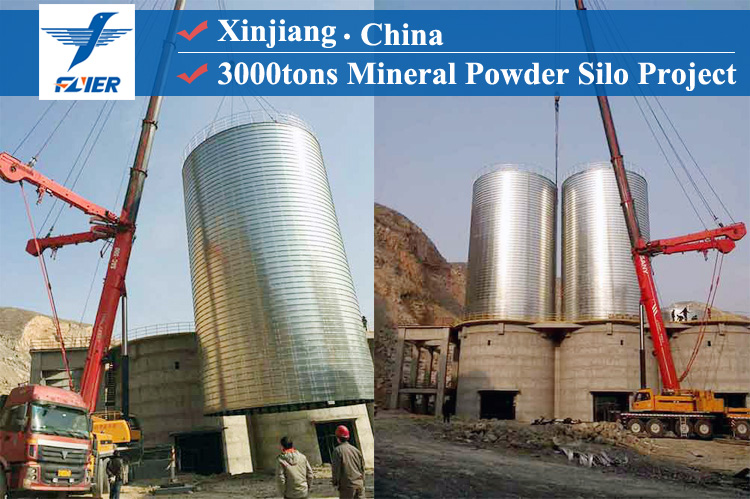 3000tons mineral storage tank project
