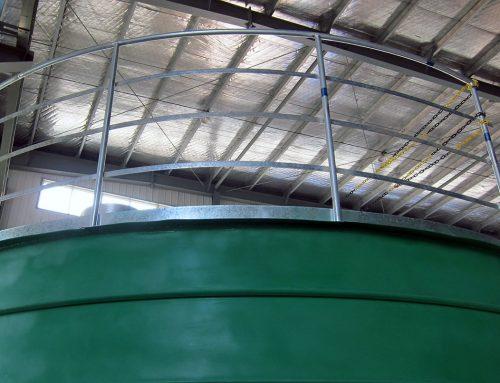 Steel Silo Guardrail & Platform