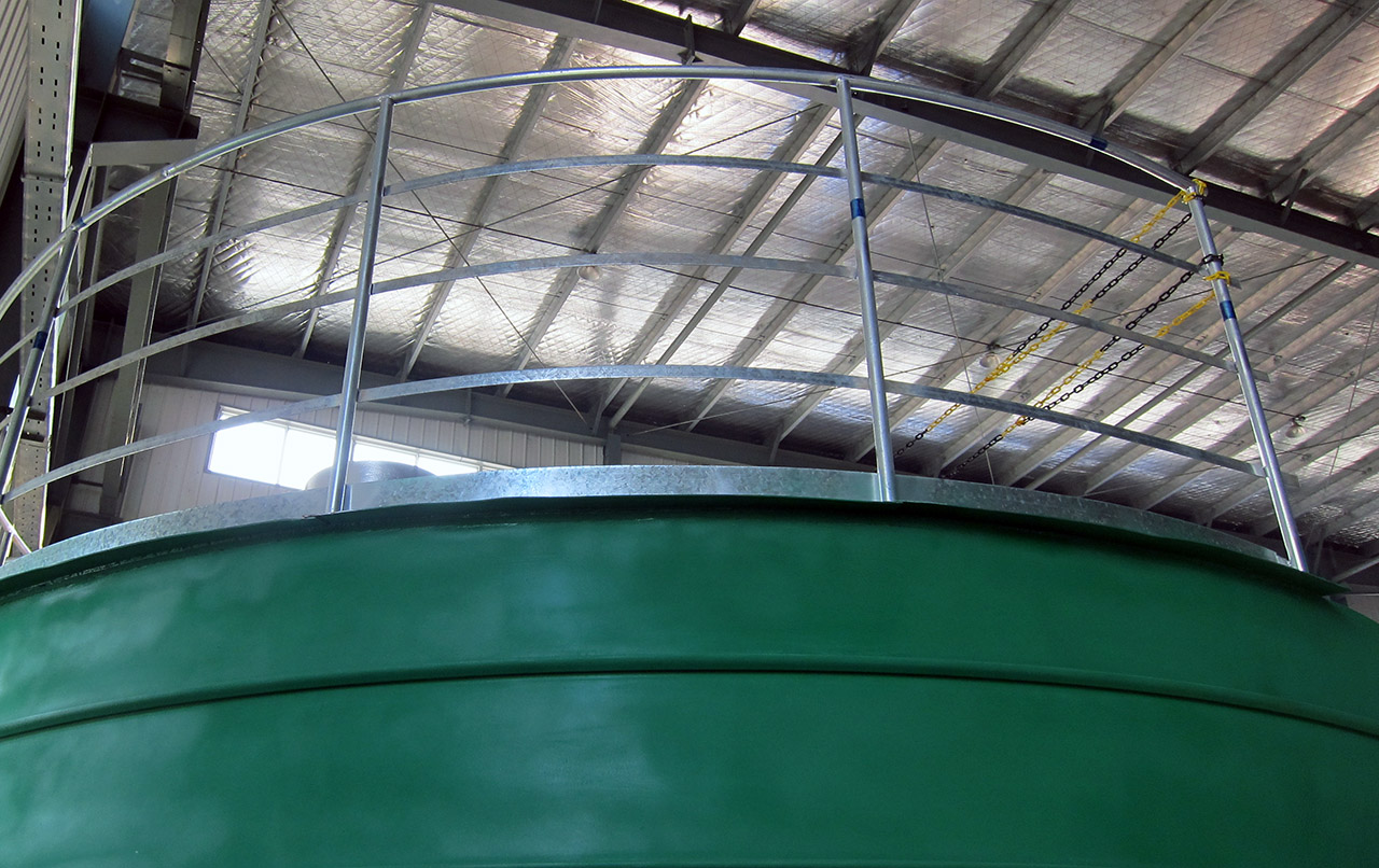 steel silo guardrail