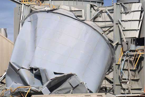 steel silo failure