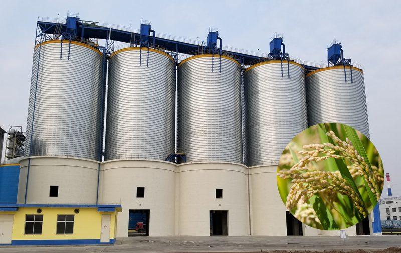 rice storage silos